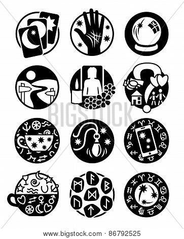 Psychic Icons Black