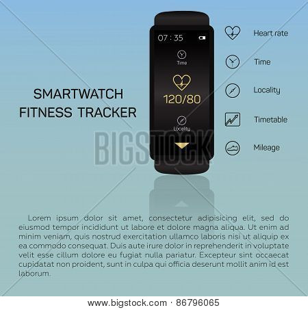 Health care, bracelet, hand, heart rate, time, locality, mileage, fitness tracker, jogging, pace, bl