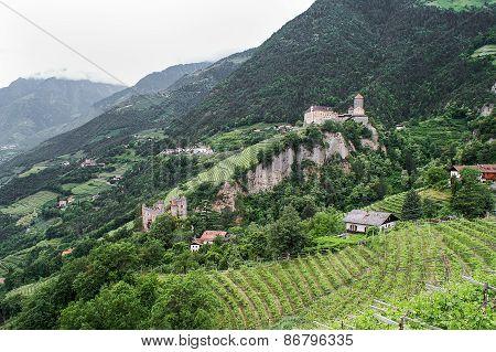 Tirol Castle And The Fountain-castle