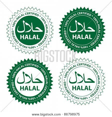 Halal food product label.