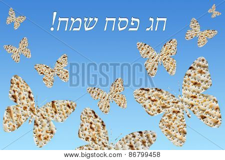 Flock Of Butterflies From Matzo - Happy Passover