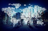 World News Globalization Advertising Event Media Infomation Concept poster
