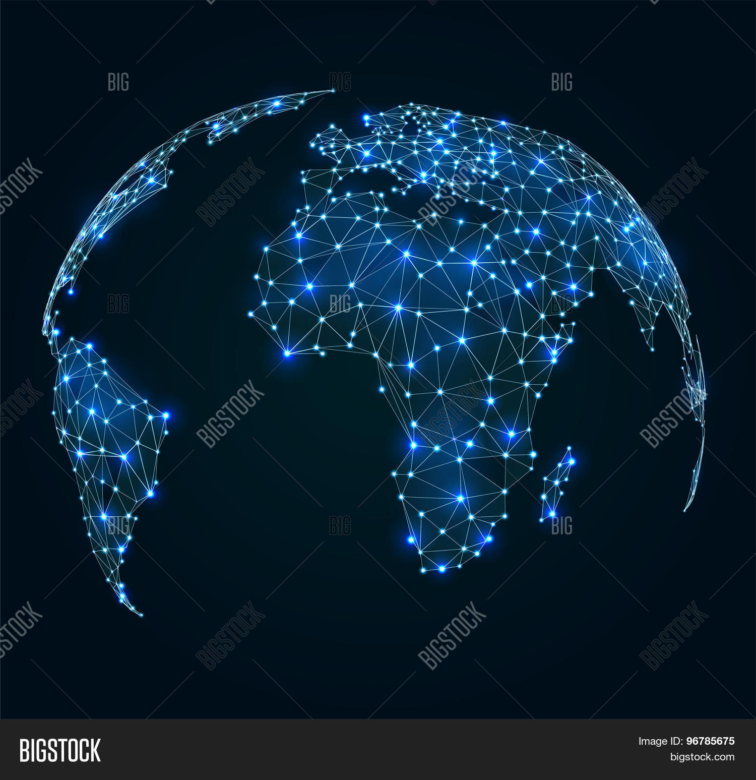 Vector y foto world map shining prueba gratis bigstock world map with shining points network connections gumiabroncs Image collections