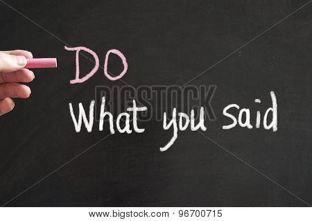 Do What You Said