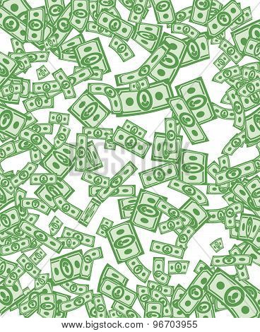 Money Pattern. Money Background From Dollars.  wealth of cash
