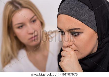 Terrified Muslim Girl