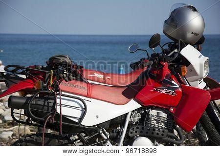 Honda Motorbikes On The Beach