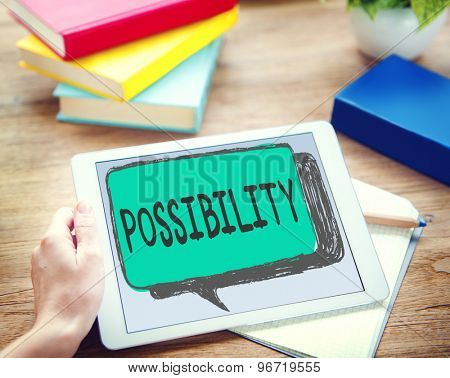 Possibility Possible Occasion Hope Feasibility Concept poster