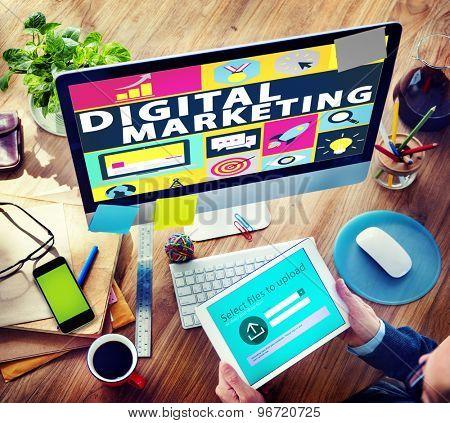 Digital Marketing Commerce Campaign Promotion Concept poster