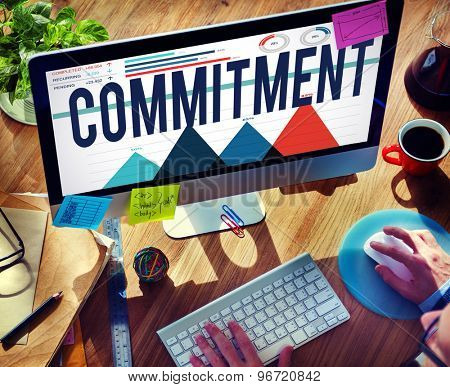 Commitment Promise Responsibility Loyalty Trust Concept