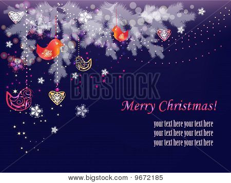 Vögel Weihnachten
