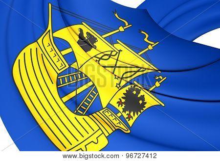 Flag Of Wittmund Landkreis, Germany.
