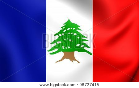 Flag Of Lebanon During The French Mandate (1920-1943)