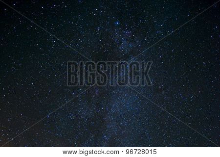 Star Night - night scene milky way background in the galaxy poster