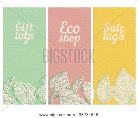 Paper Textured Banners Set