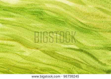 green and yellow vibrant watercolor paper texture with wavy brush strokes - painted by the photographer