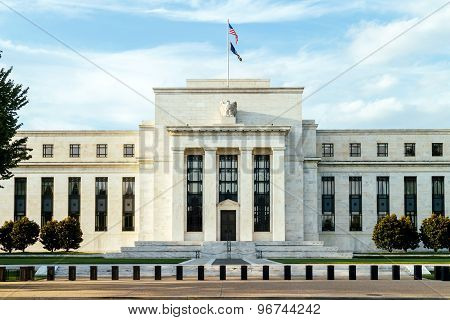 Federal reserve building Washington DC. USA. Financial concept. poster