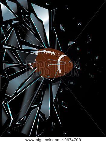 Broken Glass American Football Ball