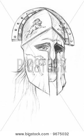 Hand-drawn Face Greek Image & Photo (Free Trial) | Bigstock