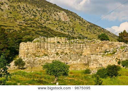 Ruin Of A Ancient Hilltop Palace