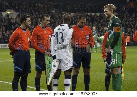 LONDON ENGLAND, November 11 2010: Tottenham's defender William Gallas  during the UEFA Champions League group stage match between Tottenham Hotspur FC and Werder Bremen FC, played at White Hart Lane