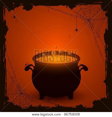 Halloween Orange Background With Potion