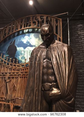BURBANK - JUL 14: Batman at the Warner Bros. Studio Tour Hollywood Expansion Official Unveiling, Stage 48: Script To Screen at WB Studios on July 14, 2015 in Burbank, CA