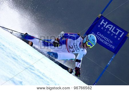 GARMISCH PARTENKIRCHEN, GERMANY. Feb 17 2011: CURTONI Irene (ITA) competing in the women's giant slalom  race  at the 2011 Alpine skiing World Championships