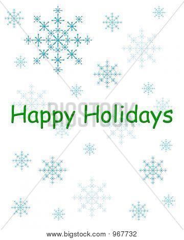 Happy Holidays Green