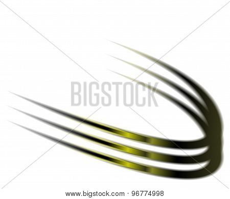 Dynamic green abstract motion on white background vector