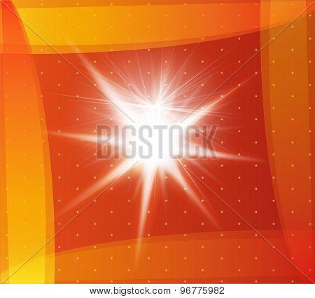 Explosion on a orange background