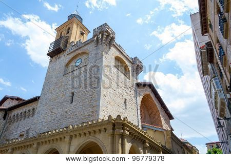 Saint Nicholas Church In Pamplona