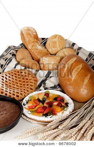Type Of Bread, Fruits Pie.