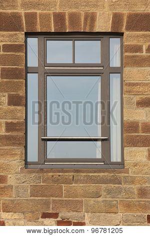 Freestone Facade With Window