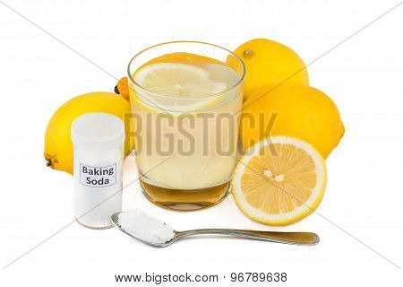 Common home remedy to treat gout inflammation - Lemon juice mixed with baking soda.