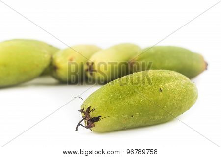 Close up of the local carambola fruit, also known as buah belimbing assam or belimbing wuluh
