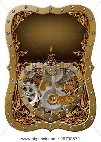 Machine Clockwork Gears Heart Concept