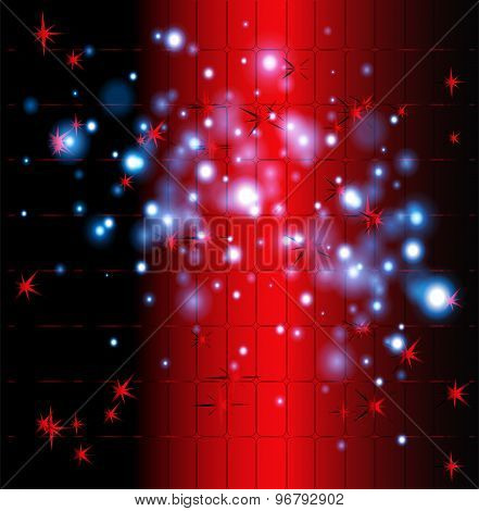 Grid bokeh red background