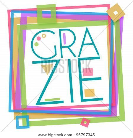 Grazie Colorful Frame Square