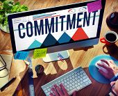 Commitment Promise Responsibility Loyalty Trust Concept poster