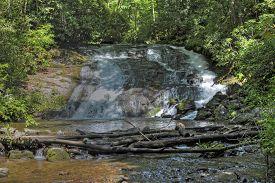 Indian Creek Falls In North Carolina