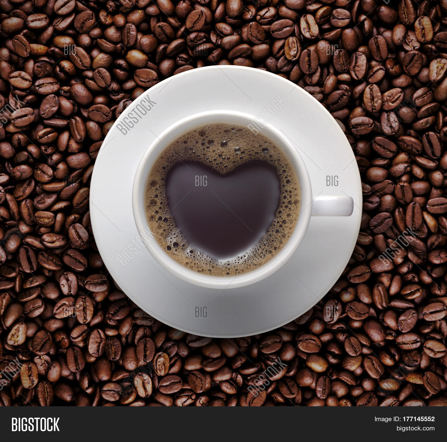 Coffee lover sign black coffee image photo bigstock coffee lover sign black coffee cup on top pile of raw brown coffee beans with voltagebd Images