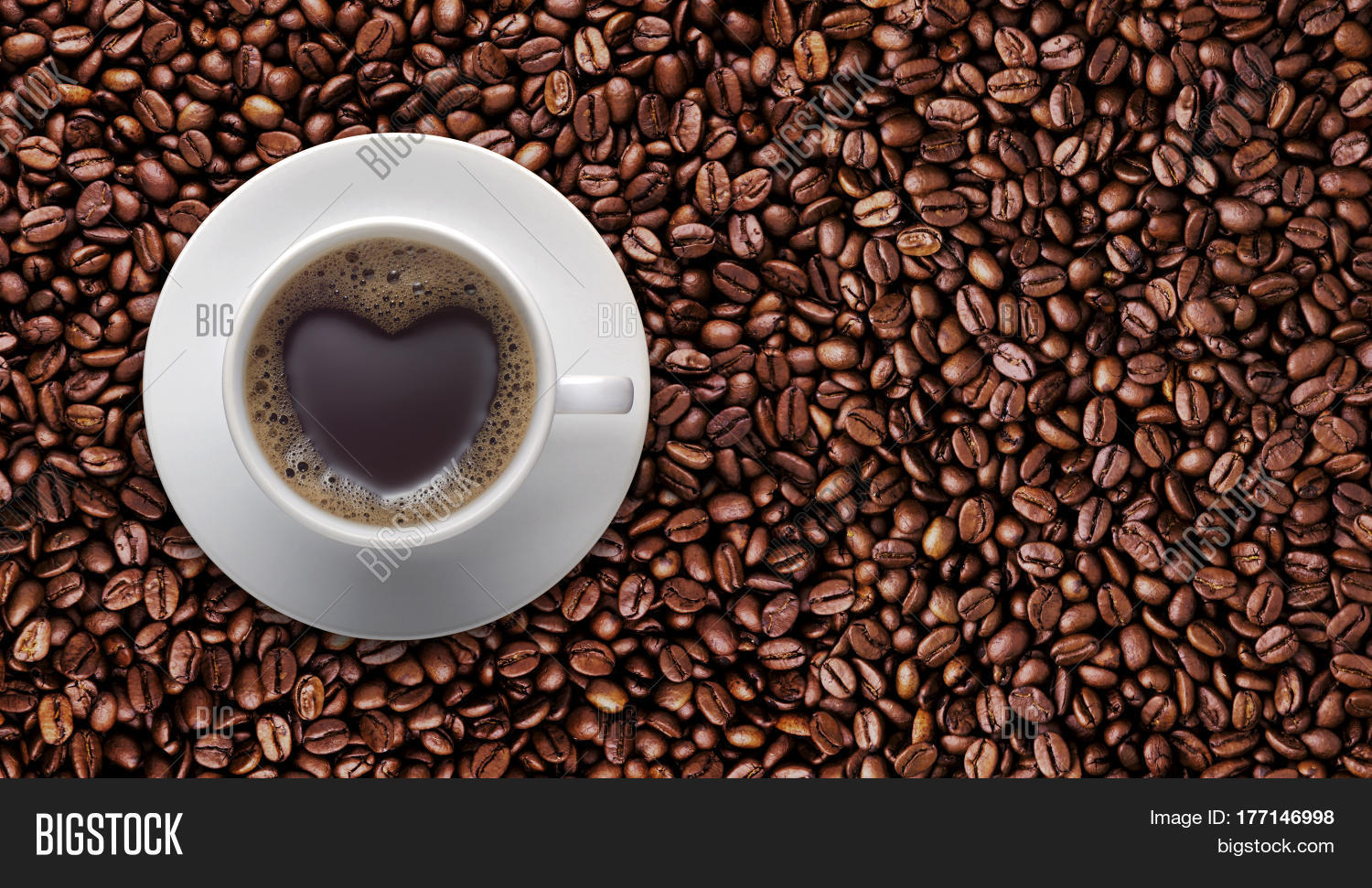 Coffee lover sign black coffee image photo bigstock coffee lover sign black coffee cup on top pile of raw brown coffee beans with biocorpaavc Gallery