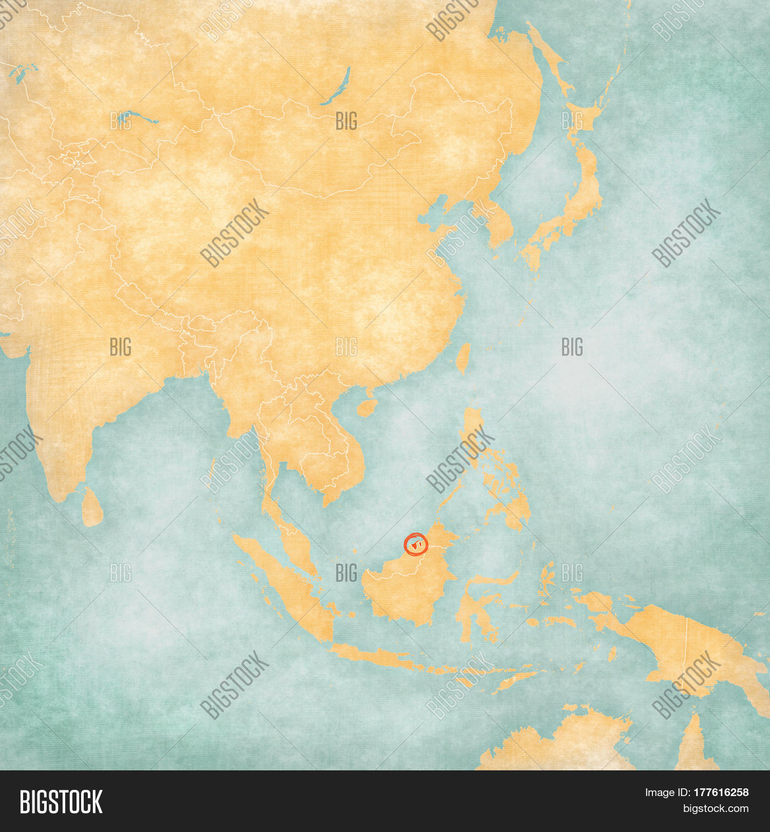Map Of Asia Brunei.Map East Asia Brunei Image Photo Free Trial Bigstock
