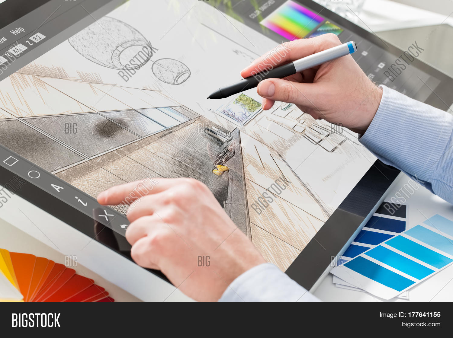 Designer graphic image photo free trial bigstock for Best tablet for interior designers