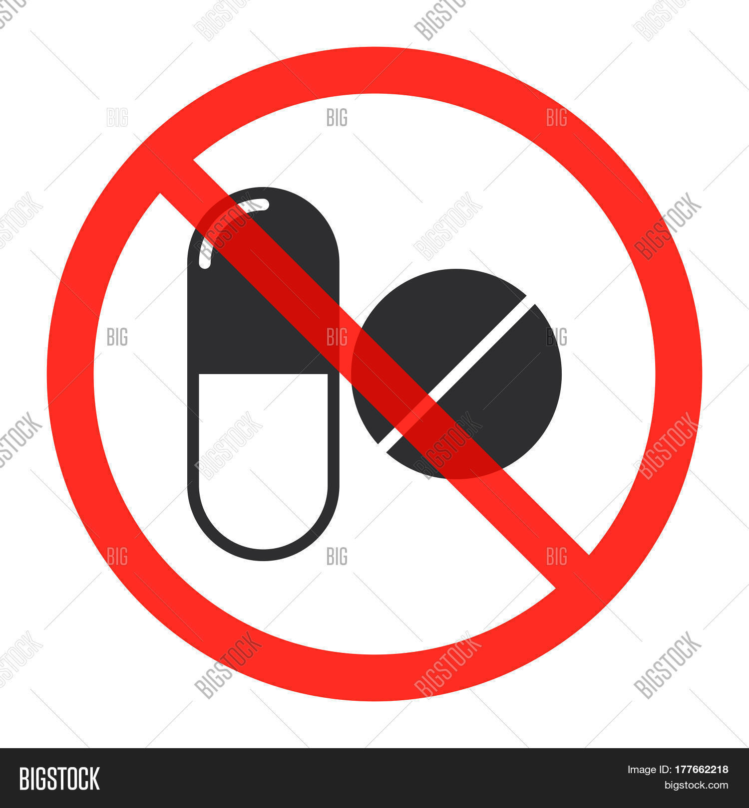 Drugs icon prohibition red circle vector photo bigstock drugs icon in prohibition red circle no doping ban or stop sign medicine forbidden symbol buycottarizona Image collections