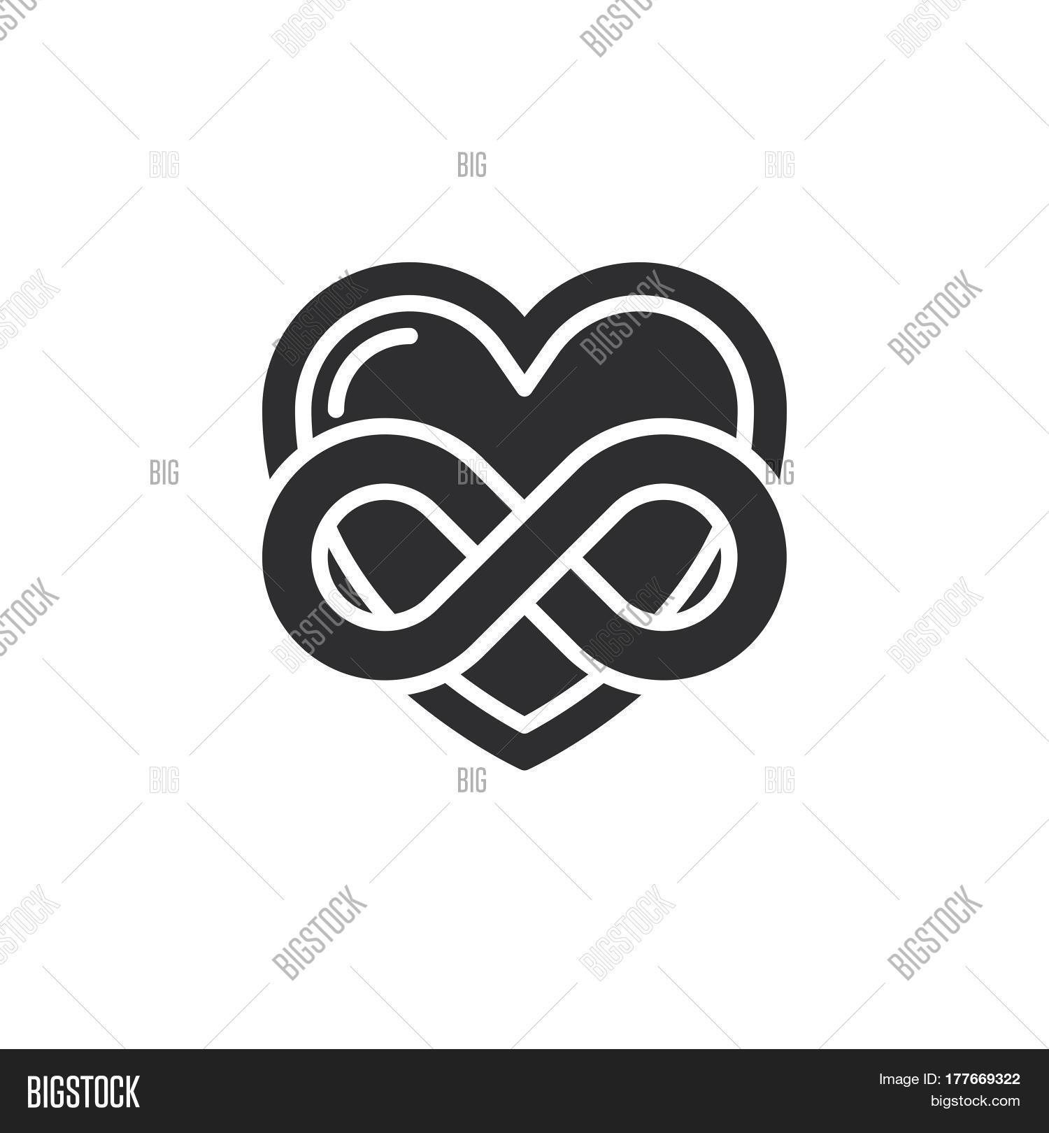 Eternal Love Icon Vector Photo Free Trial Bigstock