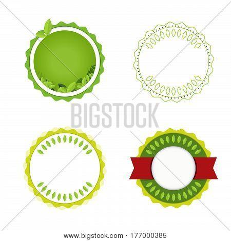 Green Badge Design. Label And Seal. Vector Illustration.