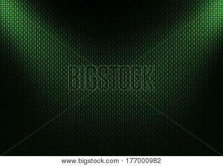 Abstract modern green carbon fiber textured material design for background graphic design