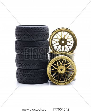 Racing tires for rally cars, radio control